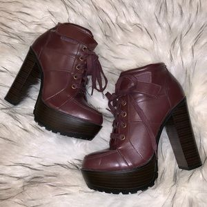 Burgundy Booties from Shoedazzle